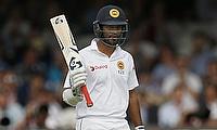 Dimuth Karunaratne remained unbeaten on 133