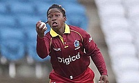 Deandra Dottin in action during the second ODI