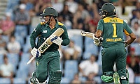 Quinton de Kock (left) and Hashim Amla (right) were ruthless in the first ODI against Bangladesh