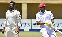 Sikandar Raza (left) had a fantastic game for Zimbabwe