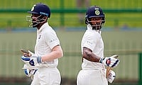 Lokesh Rahul (left) and Shikhar Dhawan were the saviour for India on day four