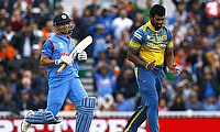 Thisara Perera (right) has played 188 limited overs matches for Sri Lanka