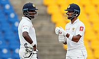 Angelo Mathews (left) and Dinesh Chandimal showed lot of resilience on day three