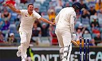 Josh Hazlewood (left) was Australia's hero on the final day