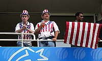 Fans of USA posing