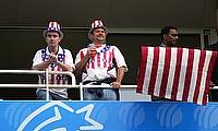 Fans of USA posing