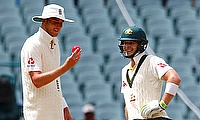 Tim Paine (right) has 130 runs from five innings