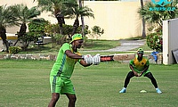 Shivnarine Chanderpaul with the bat for the Jaguars