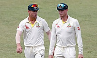 David Warner (left) found himself in a middle of another controversy