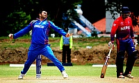 Mohamamd Nabi (left) picked four wickets and scored 34 runs