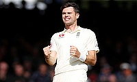 James Anderson picked four wickets with the pink ball