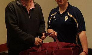 Whitwell CC Presented With Derbyshire CCC Kit Bag