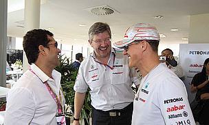 Sachin Tendulkar Meets Michael Schumacher
