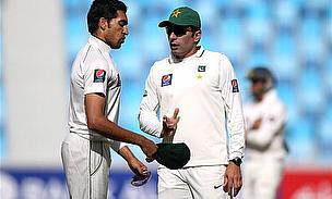 Gul And Ajmal Warm-Up For First Test