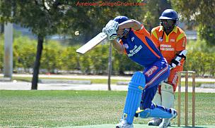 Action from the American College Cricket finals