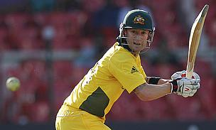 Michael Clarke batting for Australia in an ODI