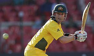 Michael Clarke batting for Australia in an ODI