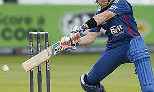 Ian Bell Cuts A Ball