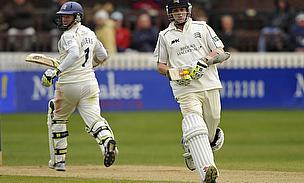 Chris Rogers and Sam Robson batting