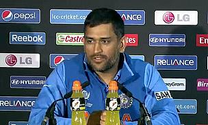 ahendra Singh Dhoni at a post-match press conference