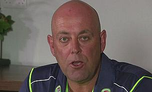 New Australia coach Darren Lehmann talks to the media