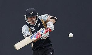 Brendon McCullum plays a pull shot