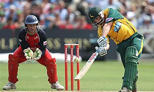 David Hussey batting against Lancashire.