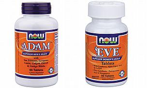 NOW Adam, NOW Eve Multivitamin Supplements
