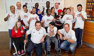 Cricket legends and disabled children
