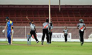 UAE celebrate a wicket