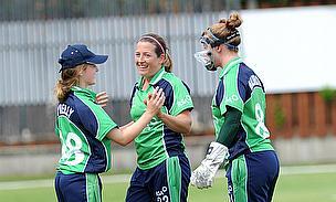 Ireland women celebrate