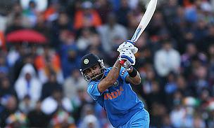 Virat Kohli plays a shot