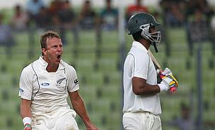 Neil Wagner and Tamim Iqbal