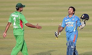Mashrafe Mortaza and Sachin Tendulkar