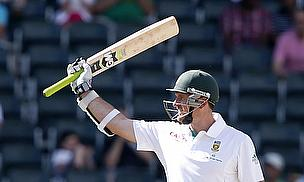 Graeme Smith raises his bat