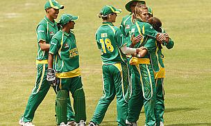 South Africa Women celebrate a wicket