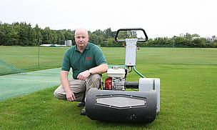 Charlie Yeomans, Head Groundsman at the University of Warwick has chosen a Dennis Razor Ultra 560 mower for his cricket wickets