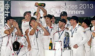 England celebrate an Ashes win