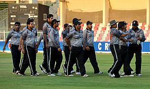 United Arab Emirates players celebrate