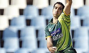 Umar Gul bowls