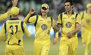 David Warner, Michael Clarke, Mitchell Johnson