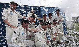New Zealand players celebrate