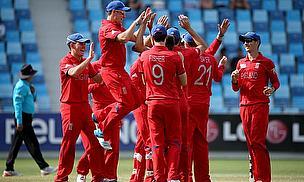 England Under-19s celebrate