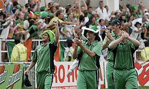 Ireland players celebrate their win
