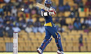 Lahiru Thirimanne hits a shot