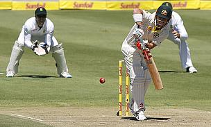 David Warner plays to leg