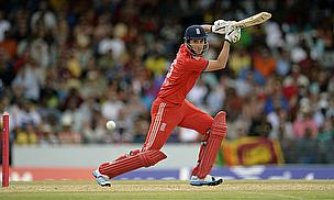 Alex Hales hits a shot