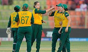 South Africa Women celebrate