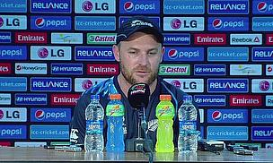 A disappointed Brendon McCullum talks to the media following his side's defeat to Sri Lanka