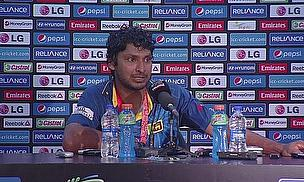 Kumar Sangakkara talks to the press after Sri Lanka won the ICC World Twenty20